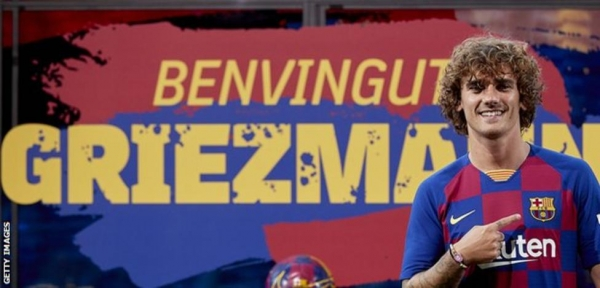 Antoine Griezmann unveiled as a Barcelona player