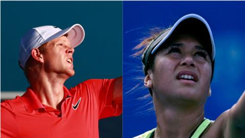 Kyle Edmund and Heather Watson