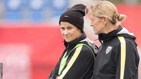 Dawn Scott with Jill Ellis