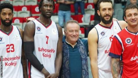 New Plymouth Raiders owner Enver Yucel with his Turkish side Bahcesehir College
