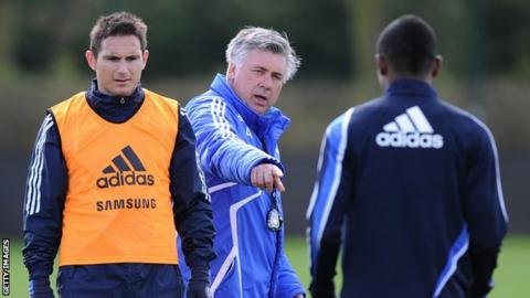 Carlo Ancelotti and Frank Lampard
