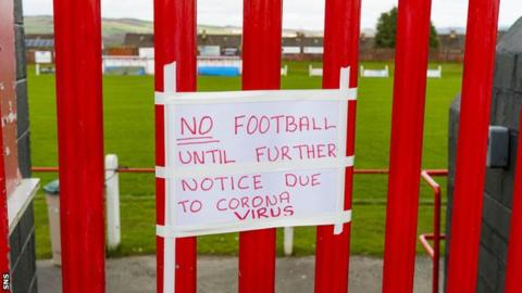 Football has been suspended in Scotland at all levels since 13 March