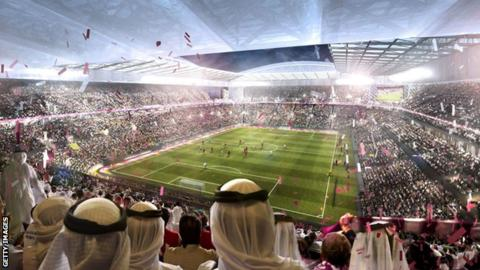 Artist's impression of Qatar World Cup in 2022