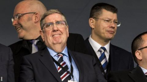 Interim Rangers chairman Douglas Park had called for the suspension of SPFL chief executive Neil Doncaster
