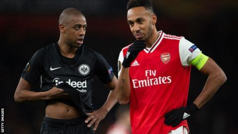 Gelson Fernandes and Pierre-Emerick Aubameyang
