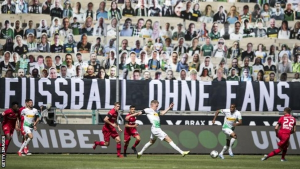 Action at Borussia Park