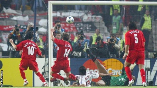 Xabi Alonso made it 3-3 with the rebound after his penalty had been saved