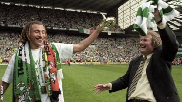 Wim Jansen, right, quit as manager after leading Celtic to title success