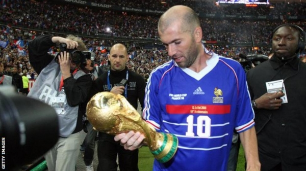 France's Zinedine Zidane with the 2006 World Cup