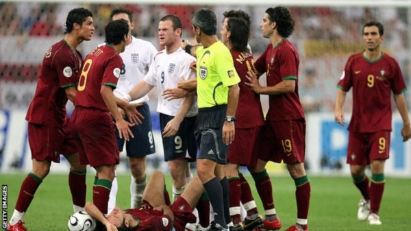 Wayne Rooney is sent off at the the 2006 World Cup